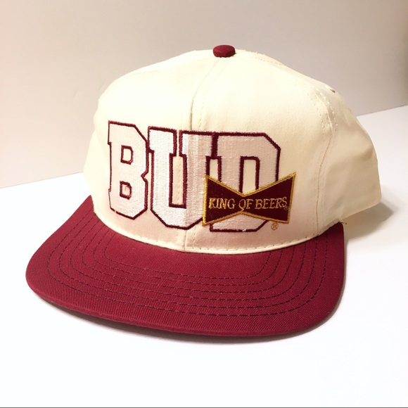 d29b5035ad6e2 Bud King Of Beers Budweiser Vtg Snapback 80s 90s. NWT. Budweiser.  35  200.  Size